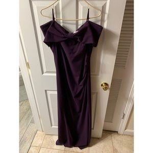 Purple floor length gown